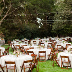 Outdoor Reception Sea of Tables