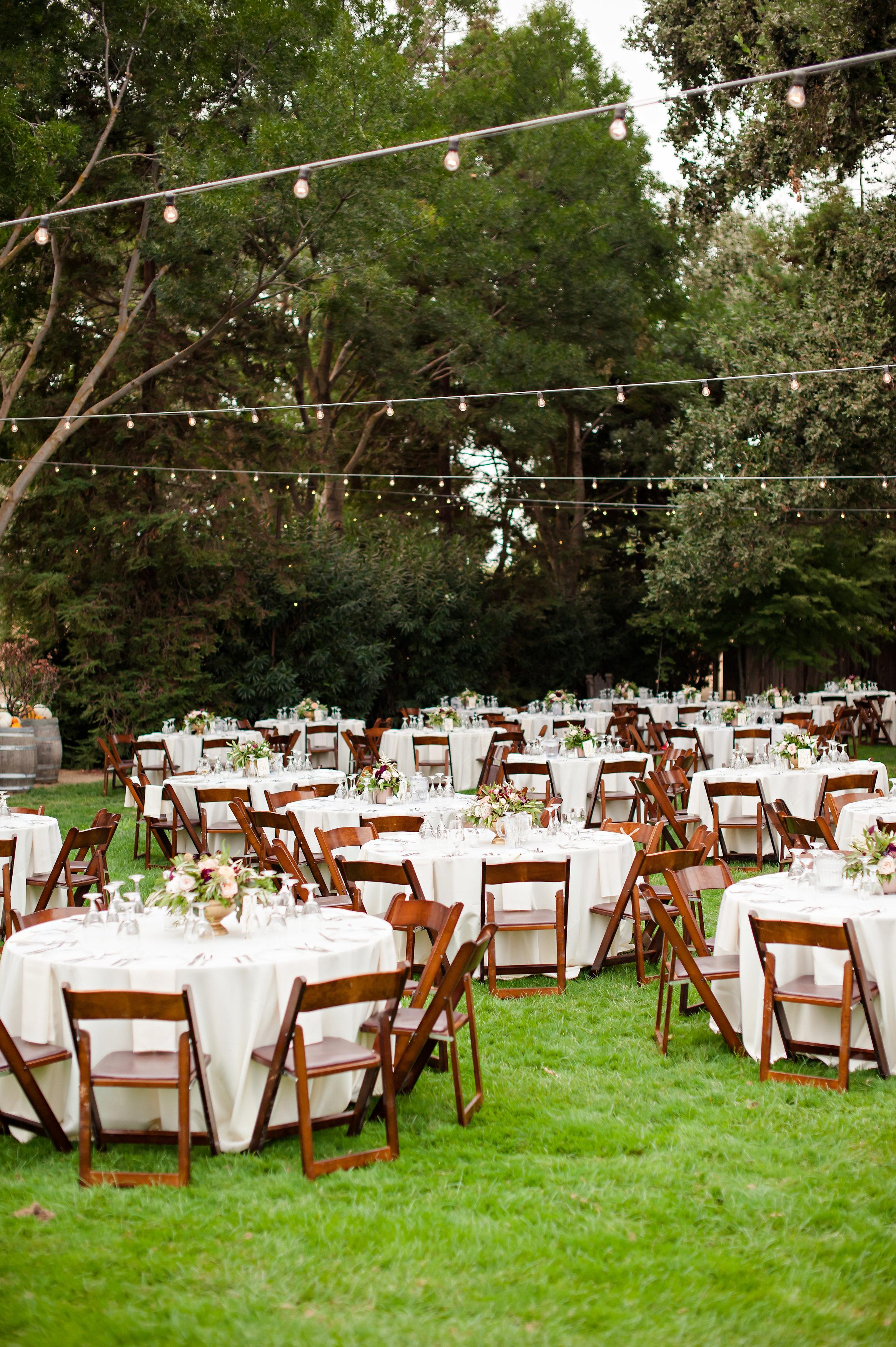 Outdoor Reception Sea of Tables