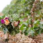 Wedding Bouquet: Fall Colors & Vines