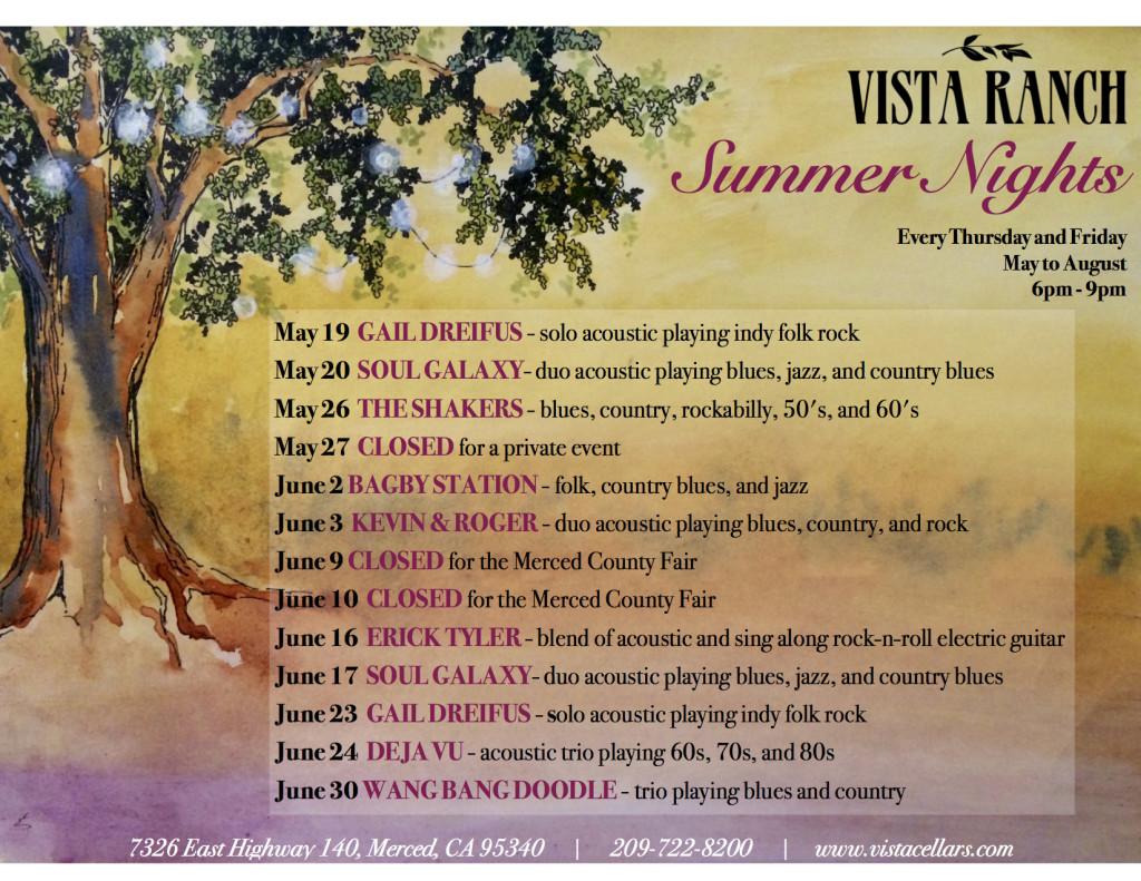 Vista Summer Nights Flyer