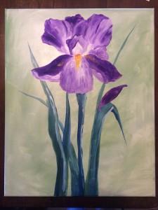 April 25th- Purple Iris